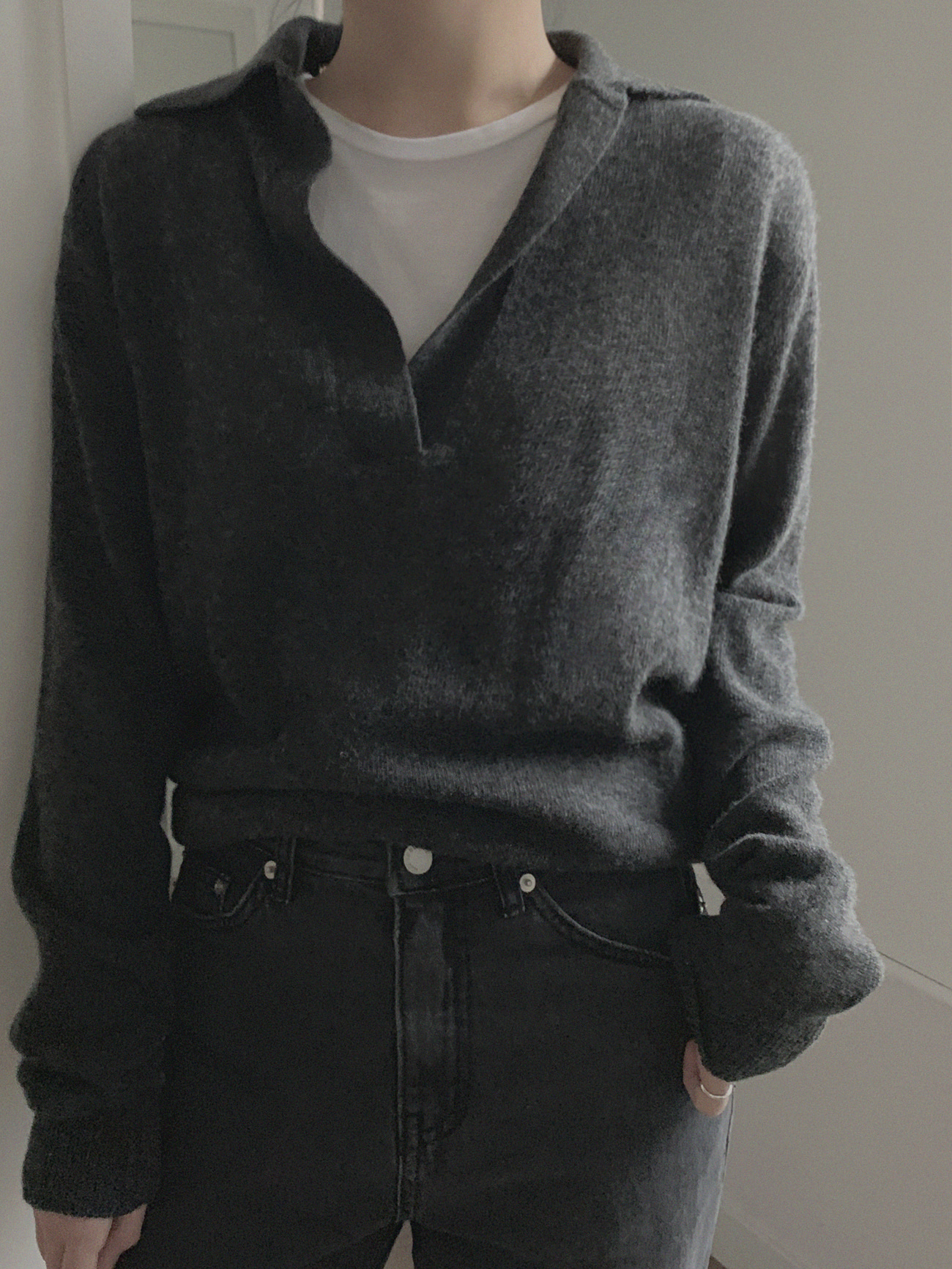 Wool Collar Knit