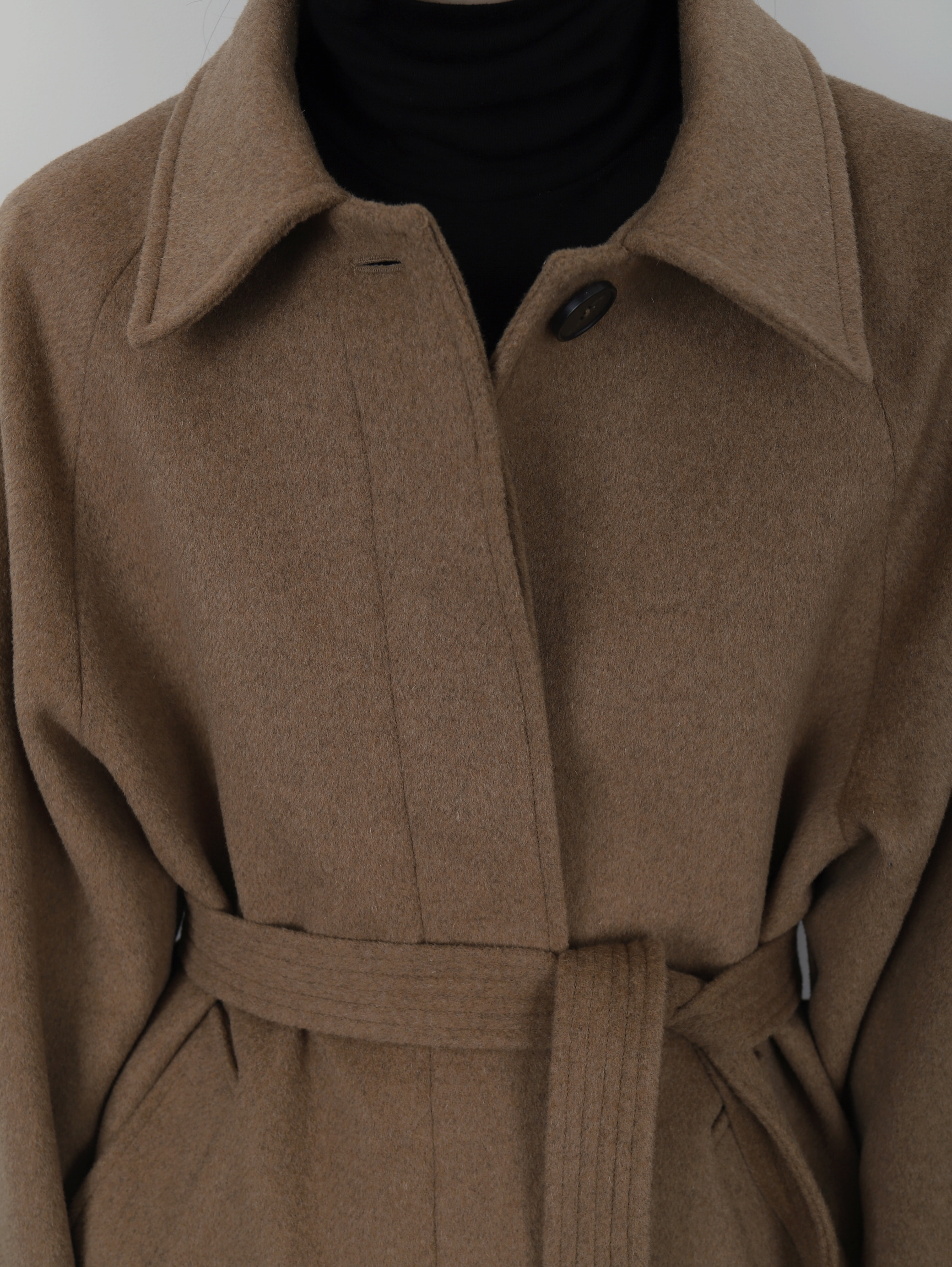 DIEP. Single Belted Coat (Camel)