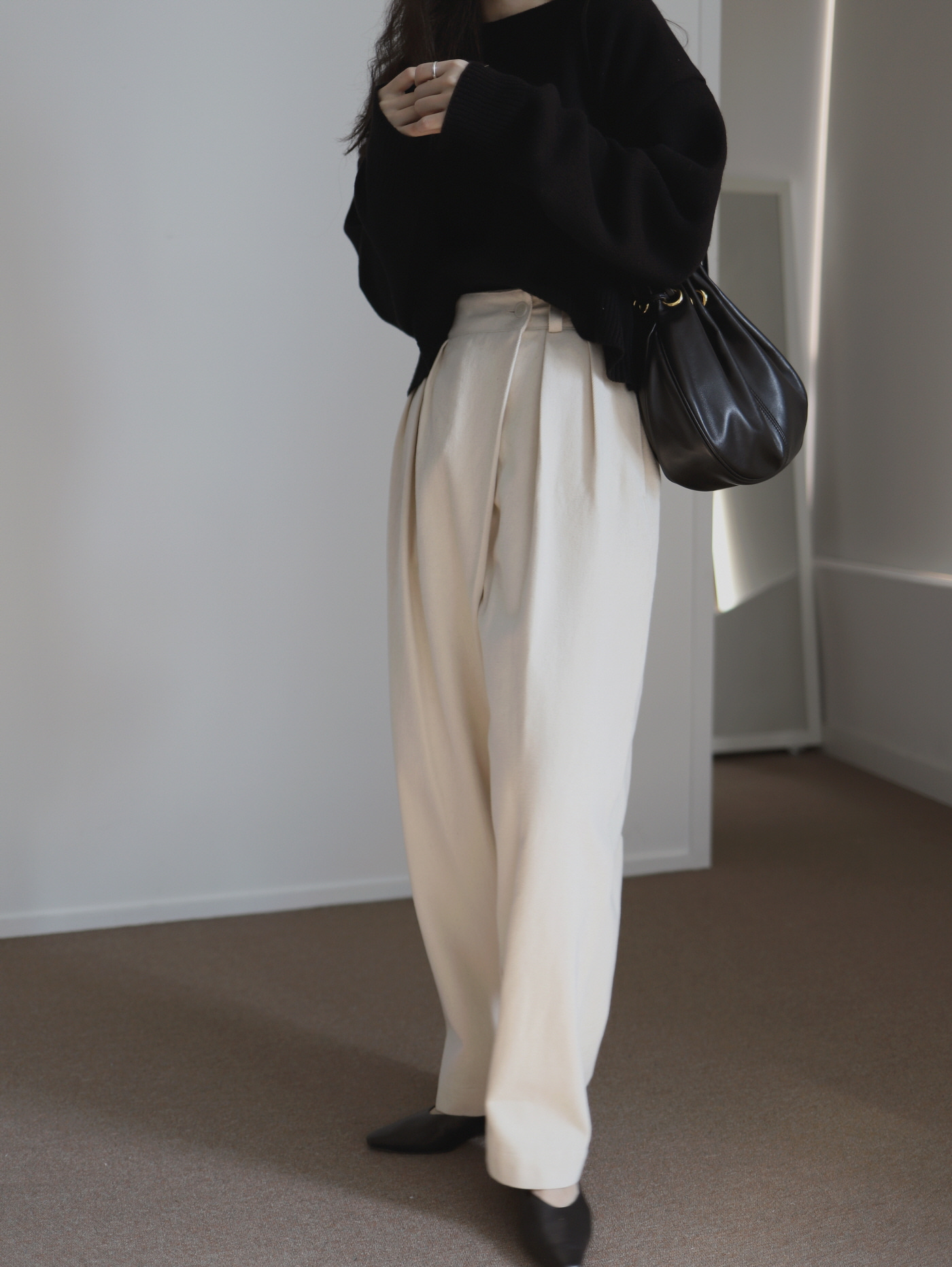 Twill Pintuck Pants